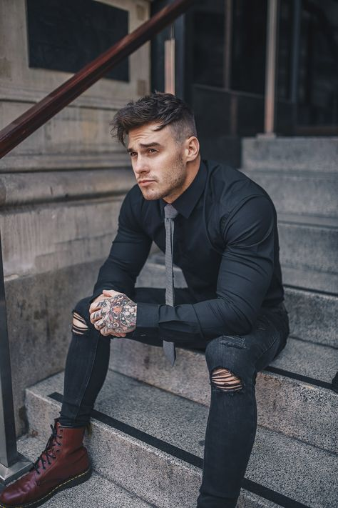 Black shirt for night out. Look the part on your next night out in our Tapered fit shirts. Expertly designed to highlight your physique.