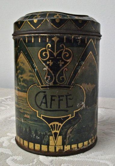 antique coffee tin