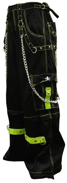 "Tripp NYC ""Dungeon Dweller"" Bondage Pants Feature deep front pockets oversized back pockets and decorated cargo pockets and have enough storage to fit all your goodies and baddies."