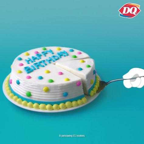 It's a piece of cake to bring home a DQ Fudge & Crunch birthday cake bursting with fudgy goodness. (See what we did there?) Just swing by & grab one from our cooler today. #HappyTastesGood