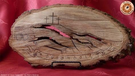 Anastasis Plaque | Woodworking | Gallery - Elderly Woodwright