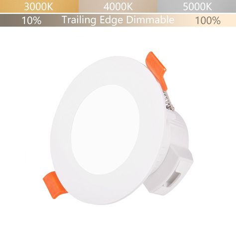 可调光5w Led嵌入式筒灯吸顶灯可调cct Ip44 用于厨房浴室照明孔直径65