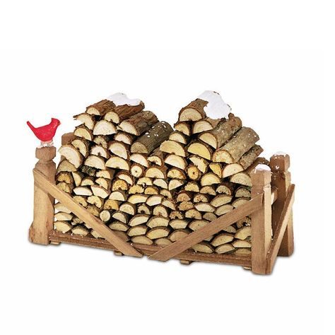 Department 56 Village Log Pile, Natural Wood Village General Accessory Materials: Polyresin, Plastic A well stocked log pile next to the house will keep the resident warm and comfortable Christmas Village Display, Christmas Villages, Christmas Decorations, Diy Christmas Village Accessories, Department 56 Christmas Village, Christmas Fairy, Miniature Christmas, Fairy Village, Gnome Village