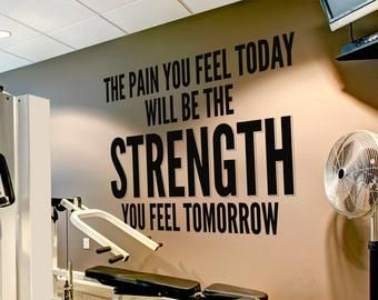 Quote Decal Fitness Motivation Gym wall decals wall vinyl decals stickers DIY Art Decor Bedroom When you feel like quitting..