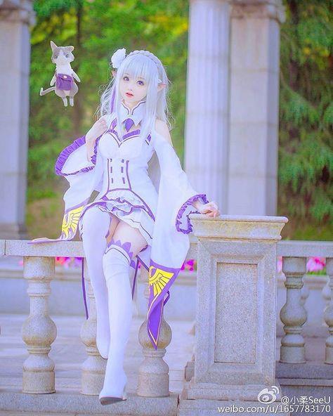 Anime Cosplay [China] as Emilia [Re:Zero Kara Hajimeru Isekai Seikatsu/Relife in a Different World from Zero/Re:Zero Starting Another Life in a Different World] -