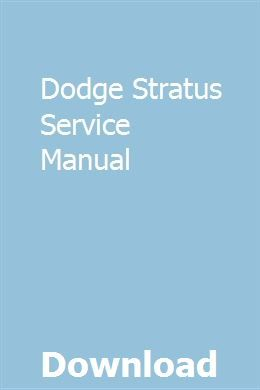 Dodge Stratus Service Manual Nissan Navara Repair Manuals