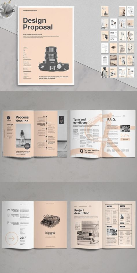 Proposal Vol. - Proposal Vol. 8 – design proposal template # Brochure t - Graphic Design Layouts, Book Design Layout, Print Layout, Design Web, Book Cover Design, Print Design, Design Brochure, Corporate Brochure, Design Portfolio Layout