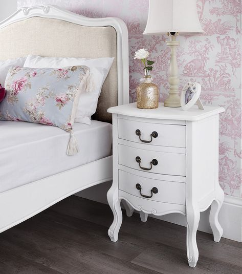 50 Cool And Creative Shabby Chic Dining Rooms: Details About SHABBY CHIC White Bedroom Furniture, Bedside
