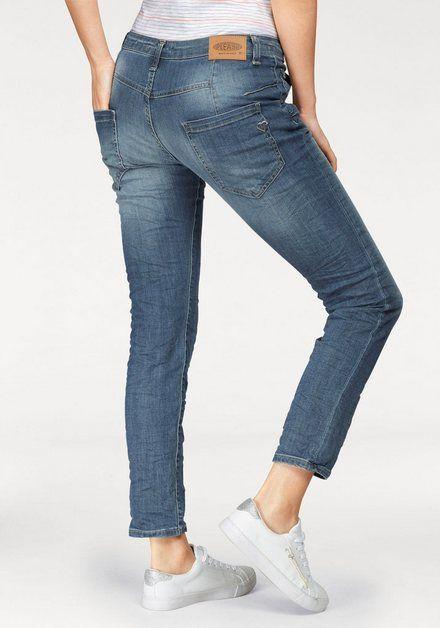 Boyfriend Jeans »P85A« lässige Jeans Hose mit Crinkle Effekt
