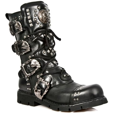cde4b56e New Rock Boots Style M1474-S1 (Black) (280 CAD) ❤ liked on Polyvore  featuring shoes, boots, kohl shoes, kohl boots, rock boots, black shoes and  rock shoes