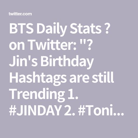 BTS Daily Stats 🎄 on Twitter