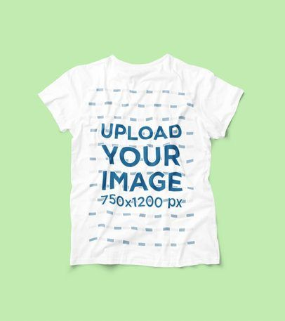 Download Placeit Mockup Of A Tossed T Shirt On A Plain Surface Clothing Mockup Clothing Logo Shirt Mockup