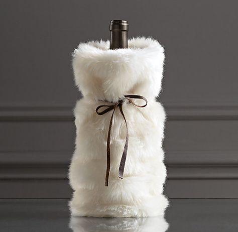 567aac7205cb RESTORATION HARDWARE - Luxe Faux Fur Wine Bag