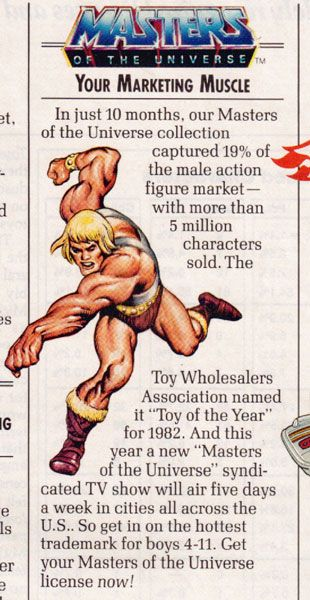"An industry trade article, likely from 1982, describing the phenomenal early success of the ""Masters of the Universe"" line of toys"