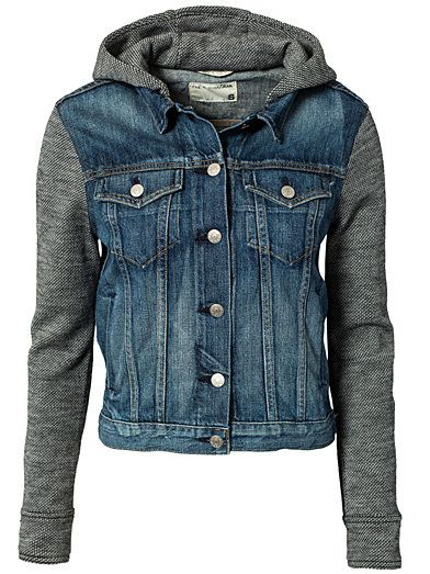 Jean Jacket With Hood - Rag & Bone - Bradford - Jackets And Coats ...