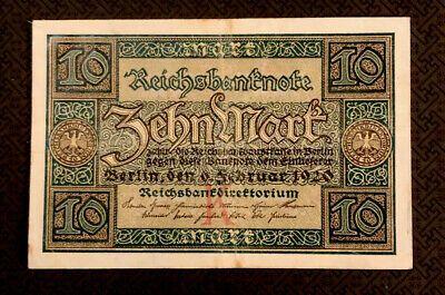 Germany Weimar Republic 10 Mark 1920 P 67 World Currency Ebay Weimar 10 Marks Germany