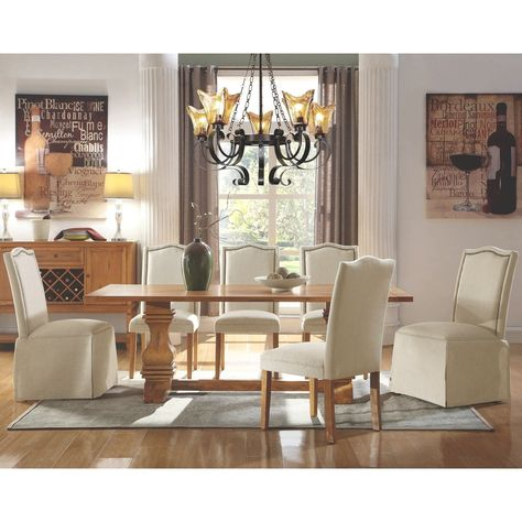 Miraculous Decorative Home Design Dining Set 1 Table 4 Parson Chairs Pdpeps Interior Chair Design Pdpepsorg