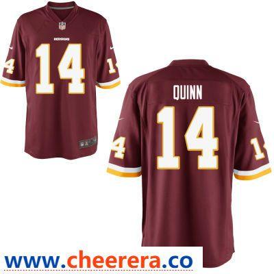buy popular 4eaf7 36a28 Men's Washington Redskins #14 Trey Quinn Burgundy Red Team ...