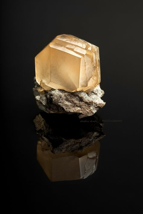 Calcite Crystal - From the Berry Materials Quarry, North Vernon, Jennings County, Indiana.