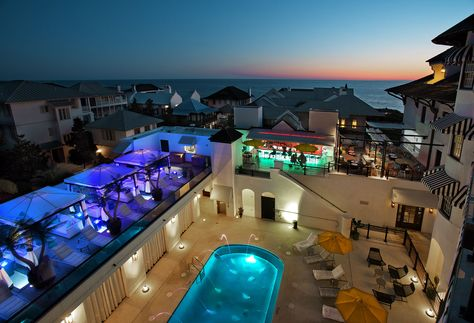 Havana Beach Bar Grill S Rooftop Lounge The Pearl Rb Destination Pool And Beautiful Emerald Waters Of Gulf Coast H Pinteres