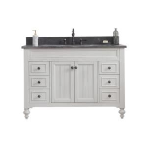Water Creation Potenza 48 In W Bath Vanity In Earl Grey With Blue Limestone Vanity Top In Black With White Basin S Potenza48egf2 The Home Depot In 2020 Water Creation Bath Vanities