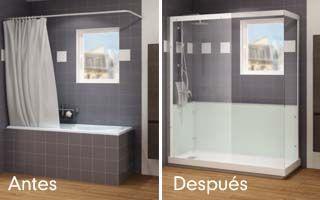 Cambio De Bañera A Ducha Antes Y Después Cambio Bañera Por Ducha Baños Pequeños Ducha Ideas De Decoración De Baño