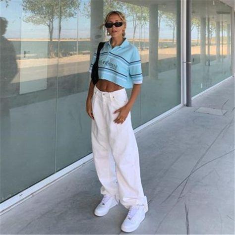 Aesthetic Clothes Style - Korean Fashion Style White Straight Pants