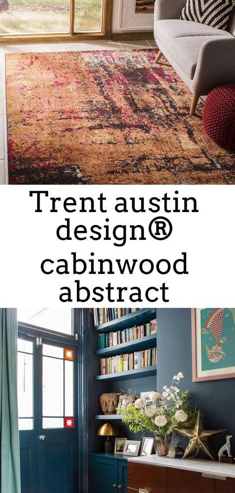 Trent austin design® cabinwood abstract orange/pink area rug rug size: rectangle 5'1