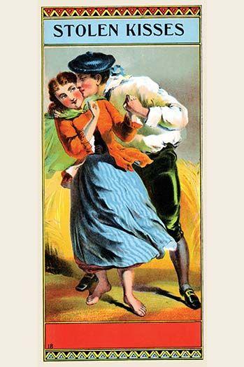 Stolen Kisses By Calvert Lithography 2 Art Print Vintage Advertisement Art Framed Poster Print