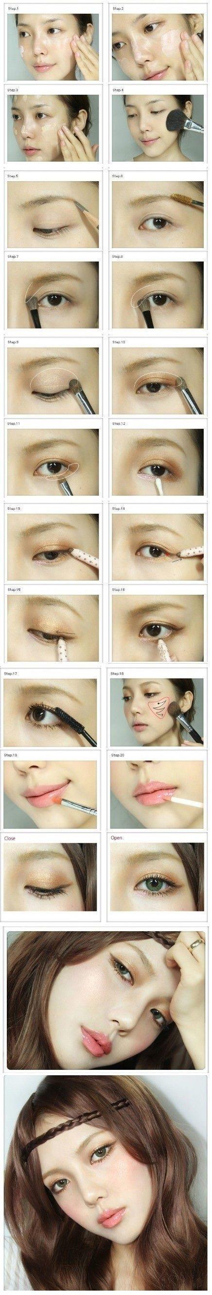 Korean eyes makeup tutorial images any tutorial examples nude makeup beauty pinterest nude makeup nude and makeup baditri images baditri Image collections