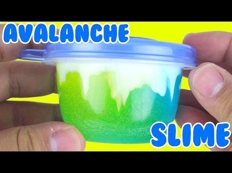 Diy Avalanche Slime How To Make Slime Slime Poking Asmr