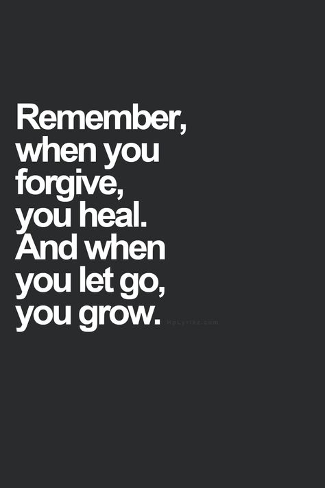 Forgive and release it.