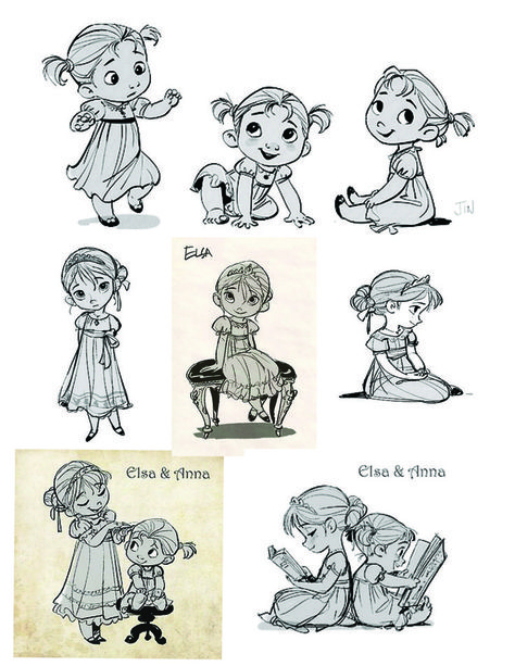 frozen anna and elsa | Frozen Anna And Elsa As Babies Baby anna and elsa