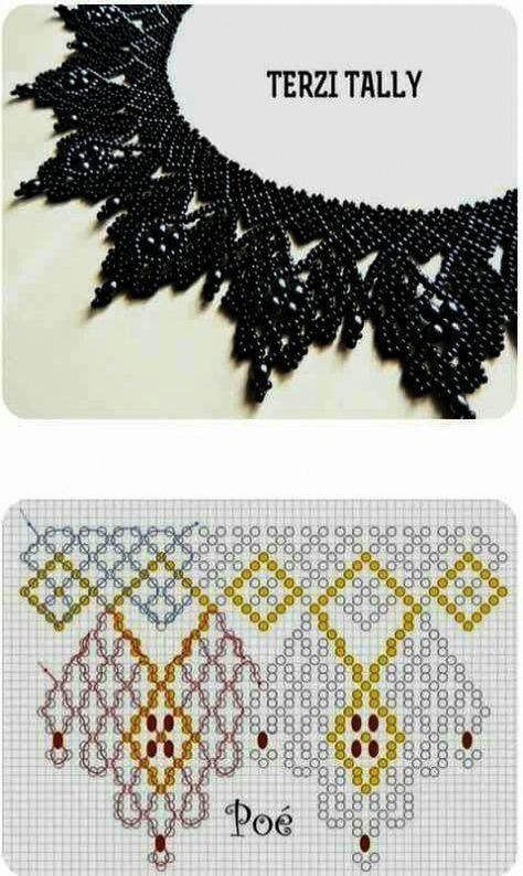 Free openwork beaded collar pattern by anna anchik martynov featured in bead patterns com newsletter – ArtofitBest Seed Bead Jewelry 2017 Free pattern for beaded necklace Galaxy