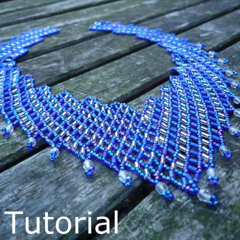 Simple Necklace Beadwork Pattern/Tutorial Instant by BearlyBeadedLearn how to create this beautiful necklace from a traditional European design, which demonstrates the versatility of simple netting.