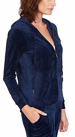 Gloria Vanderbilt Ladies Velour Hooded Jackets For Women Blue With Images Jackets For Women Jackets Hooded Jacket