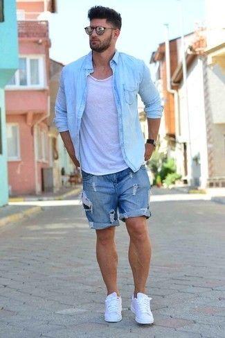 How to Wear Denim Shorts (112 looks) | Men's Fashion | Mens summer outfits,  Mens casual outfits, Summer outfits men