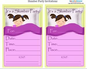 Free Printable Girls Slumber Party Invitations Google Search
