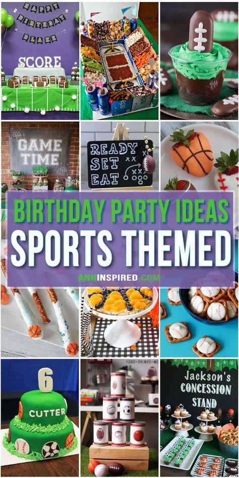 Sports Themed Birthday Party Ideas #BirthdayParty #BirthdayPartySupplies #BirthdayPartyFood #BirthdayPartyActivities