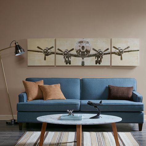 Flight Time Coat Canvas 3 Piece Set Wall Canvas Decor Wall Art Sets