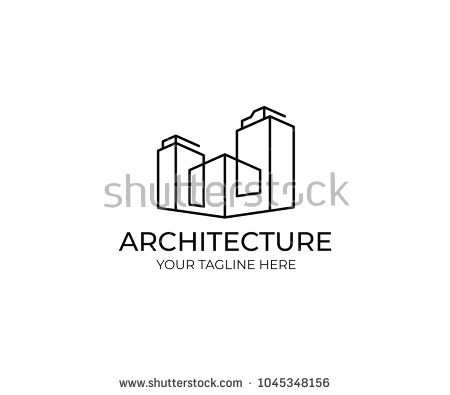 Line Buildings Logo Template Abstract Commercial Real Estate