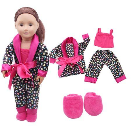 Mosunx 5pcs Clothes Shoes For 18inch American Girl Our Generation