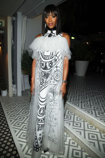 Naomi Campbell attends a Dior dinner during the 71st annual Cannes Film Festival.