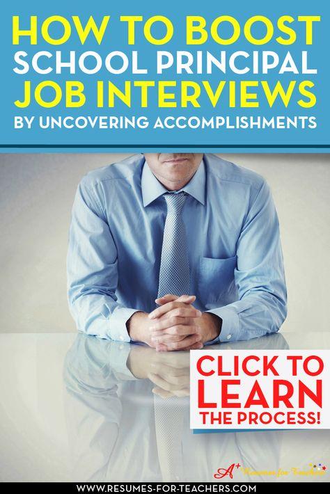 How To Boost School Principal Job Interviews Principal, Teacher - school principal resume