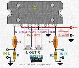 TDA8560 Power Amplifier 2X40 Watt Circuit | Layout design in 2019