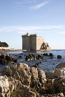 Abbaye de Lérins: monastère fortifié. Île Saint-Honorat. Provence-Alpes-Côtes d'Azur