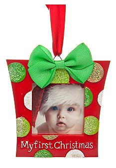 First Christmas Personalized Mini Frame Ornament Baby Shower