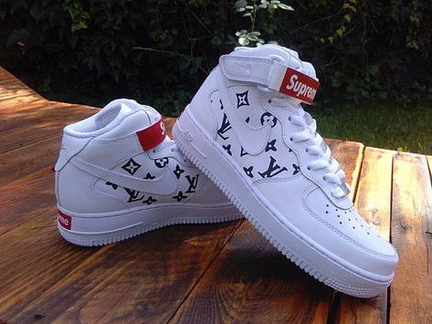 2bff06a3 Supreme x Louis Vuitton Shoe Nike Air Force Custom Sneakers