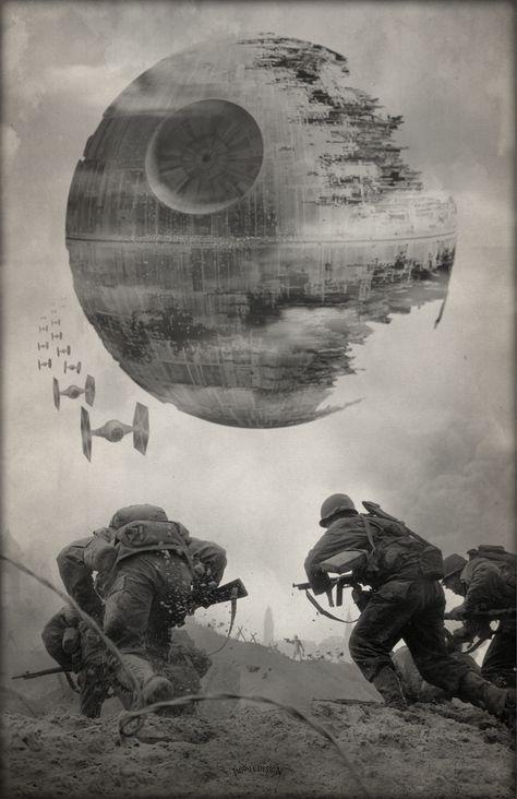 Swvswwii Bundle Series I 4 Prints Star Wars Art Star Wars Fans War