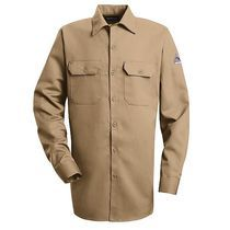 a09f8179e0f Khaki Bulwark Flame Resistant Work Shirt - EXCEL FR® ComforTouch™